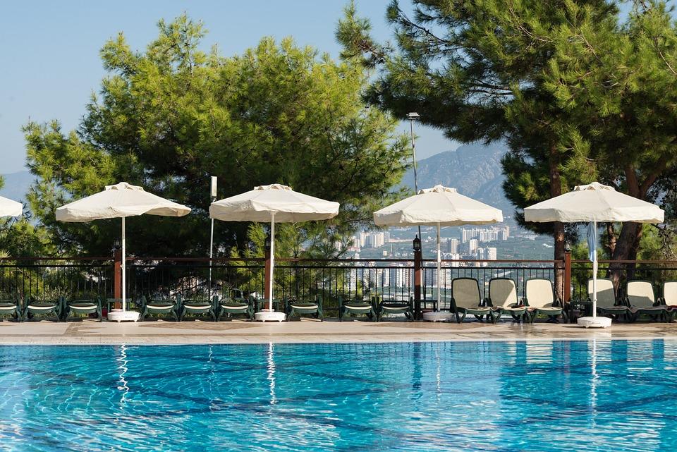 Alania, Turkey, Pond, Pool, Basin, Lounge, Sunshade