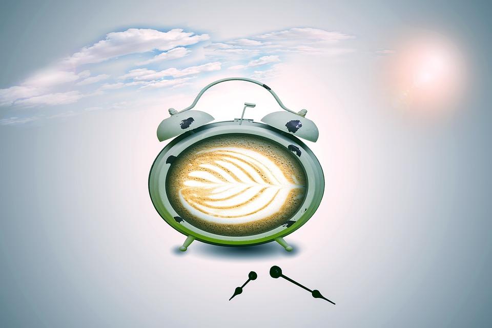 Alarm Clock, Coffee, Coffee Alarm Clock, Cappuccino