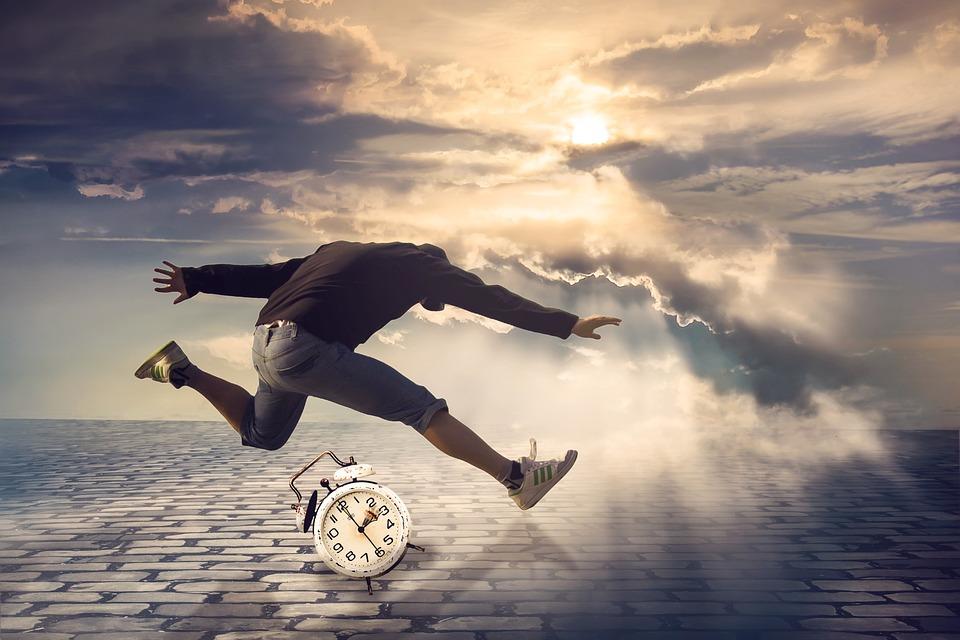 Time, Man, Jump, Alarm Clock, Stumble, Do Not Have Time