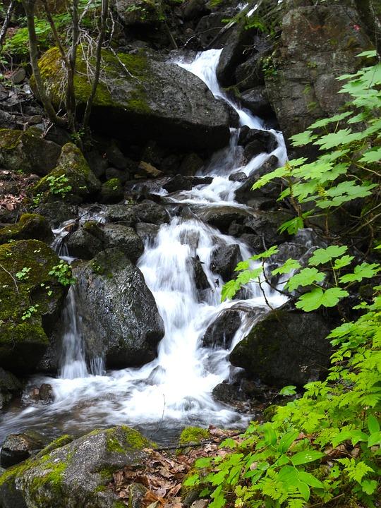 Upper, Dewey, Lake, Skagway, Alaska, Scenic, Waterfall