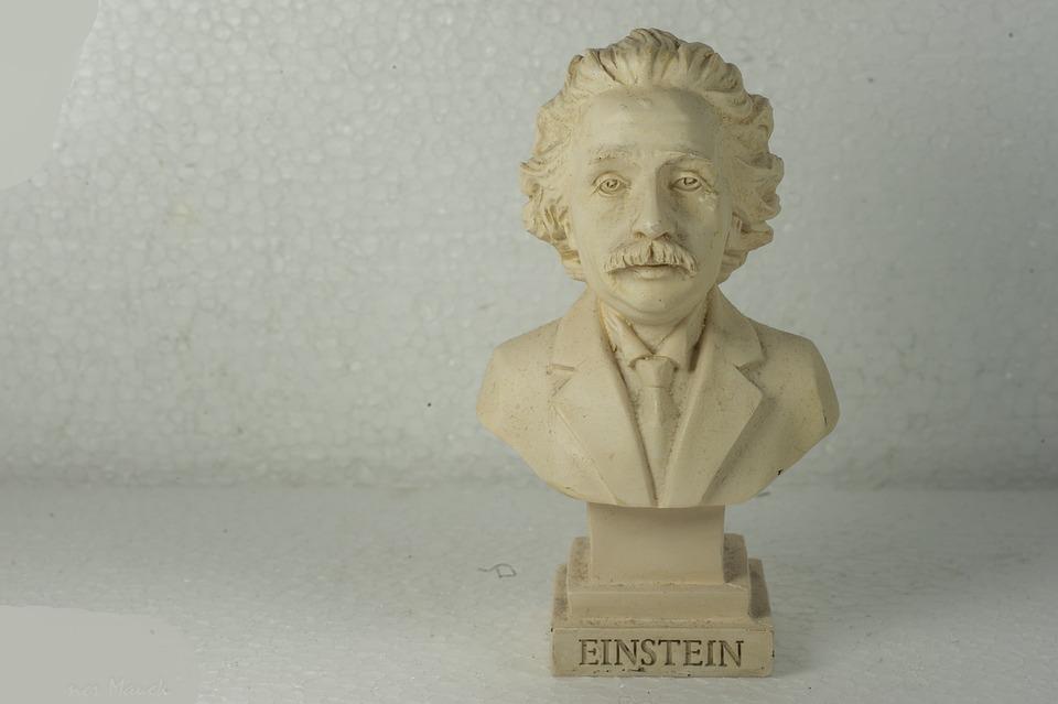 Albert, Einstein, Statue, White