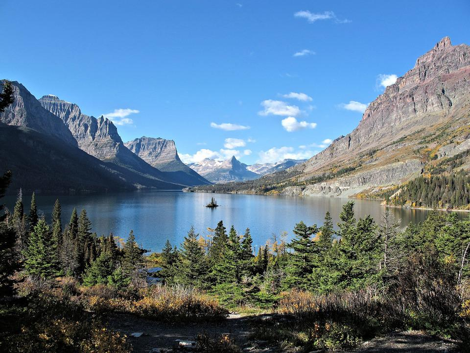Rocky Mountains, Alberta, Canada, Nature, Lake