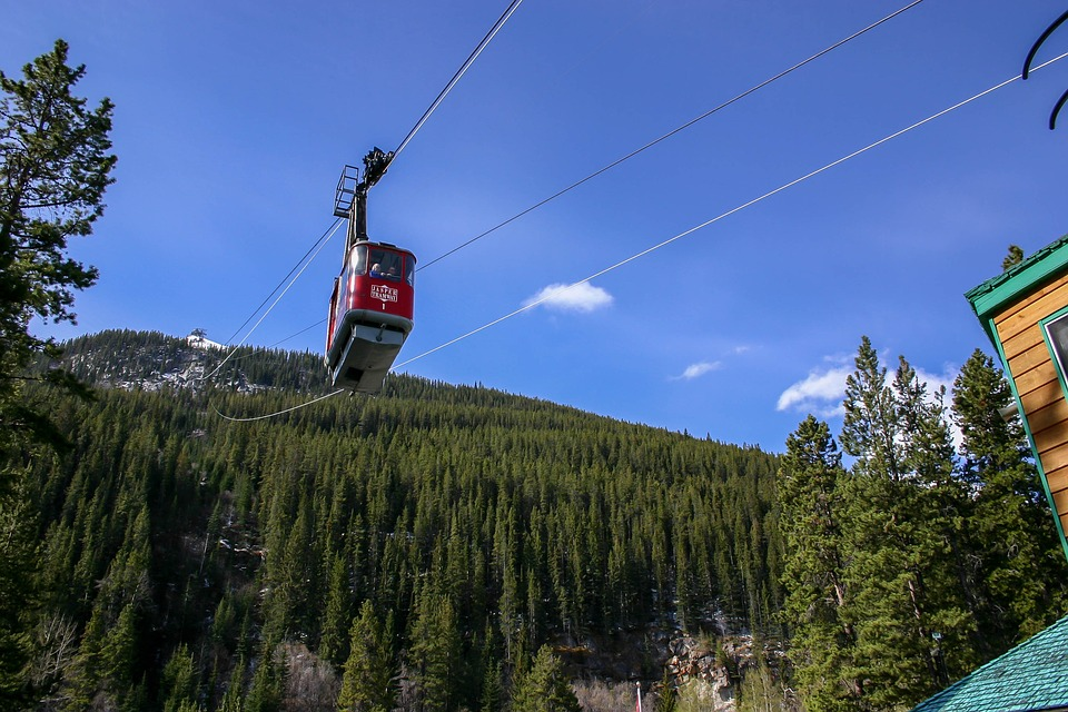 Cable Car, Jasper, Rocky Mountains, Mountain, Alberta