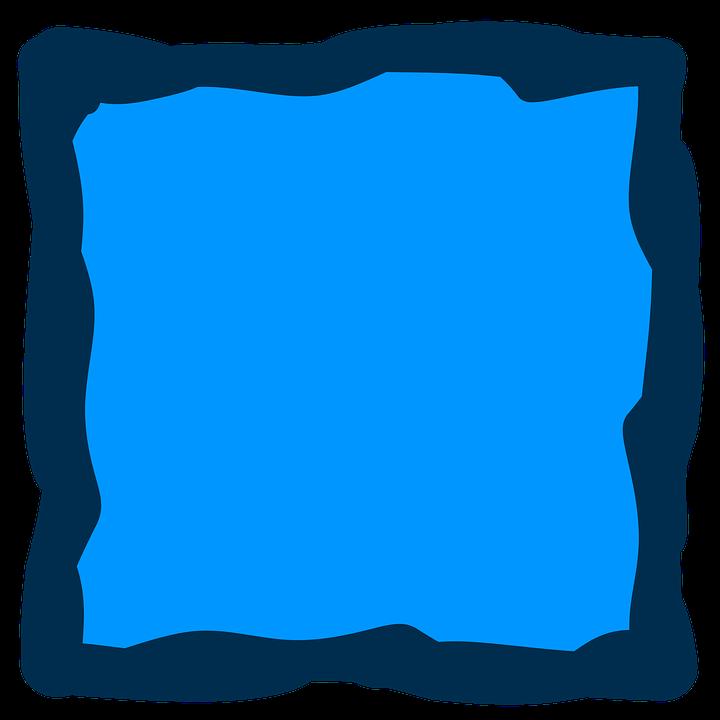 Blue, Frame, Album, Square, Border, Border Frame