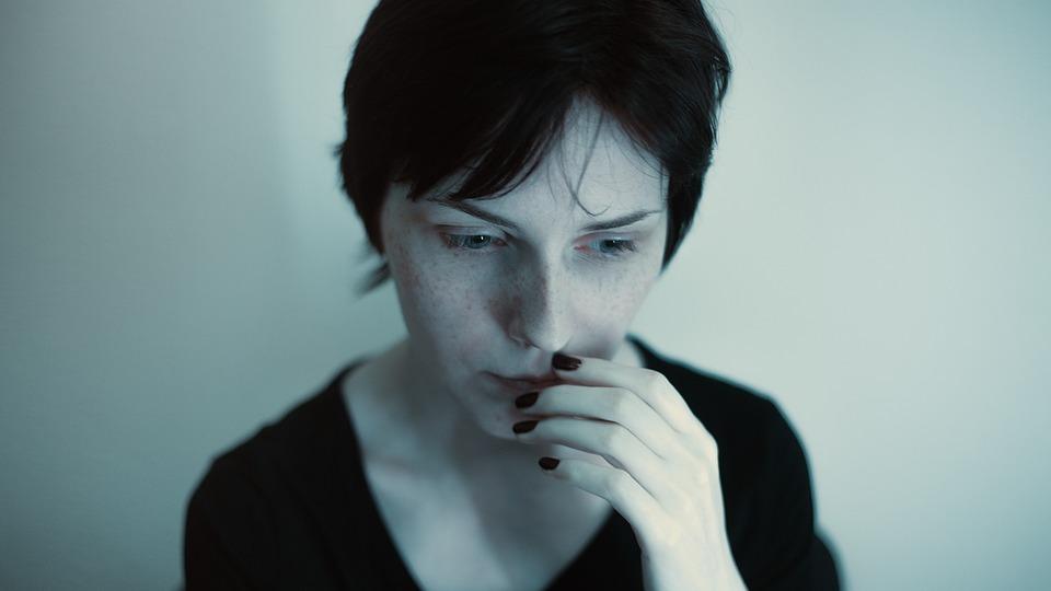 Portrait, Grim, Girl, Blue, Dark, Album, Gloominess