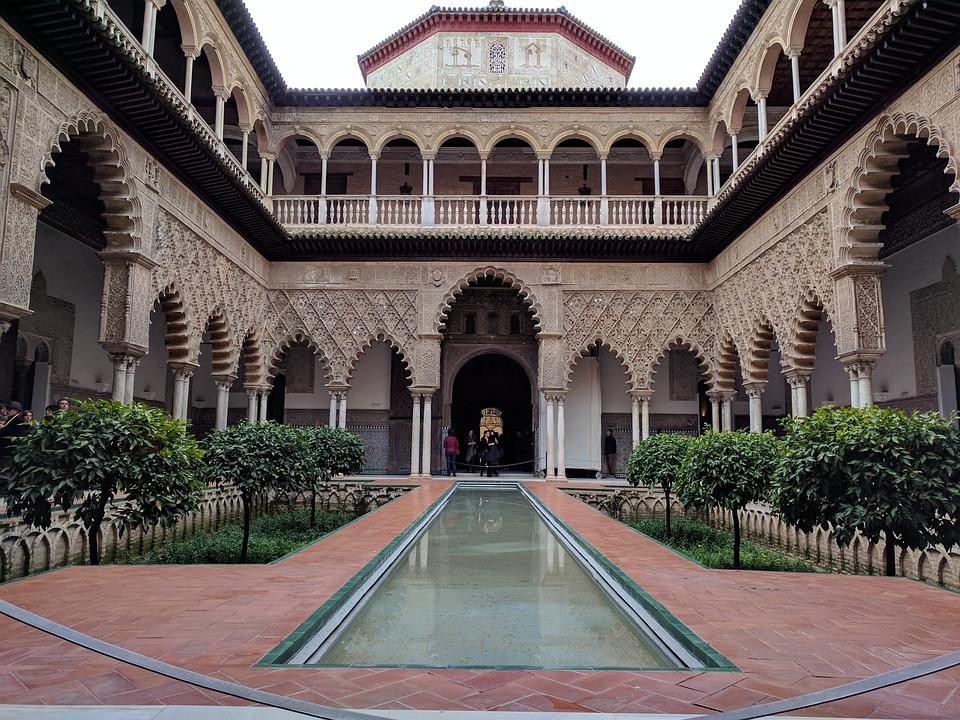 free photo alcazar seville islamic architecture spain max pixel