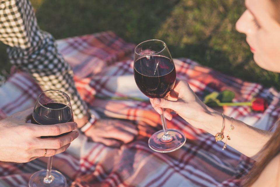 Alcohol, Blanket, Celebration, Champagne, Couple, Drink