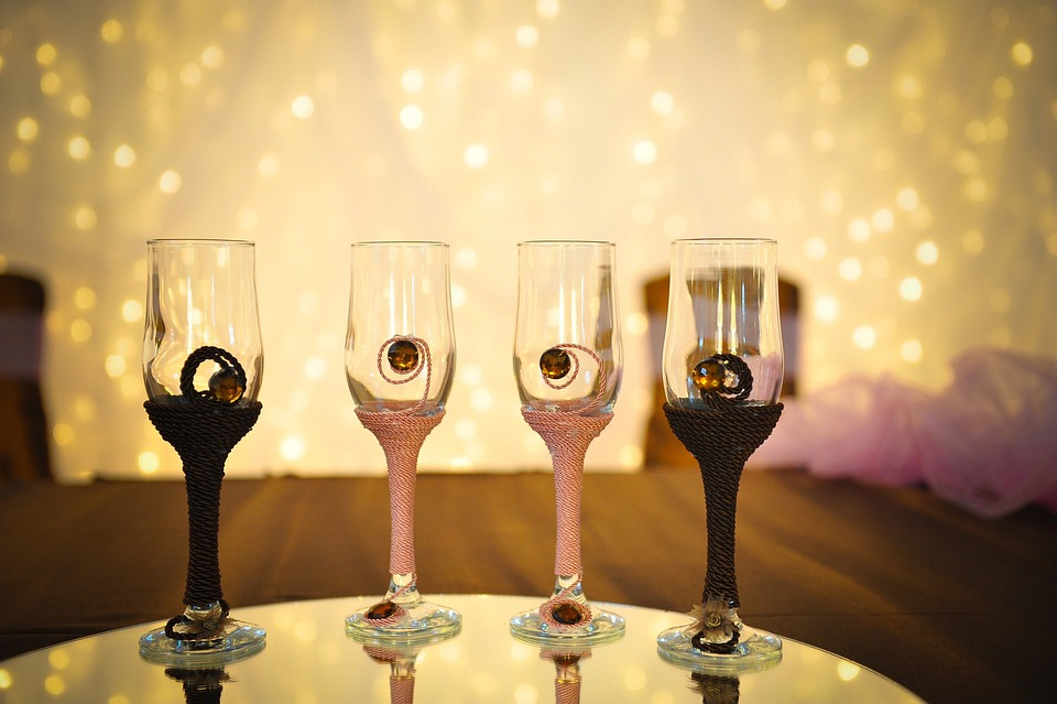 Wedding, Glasses, Toast, Cheers, Champagne, Alcohol