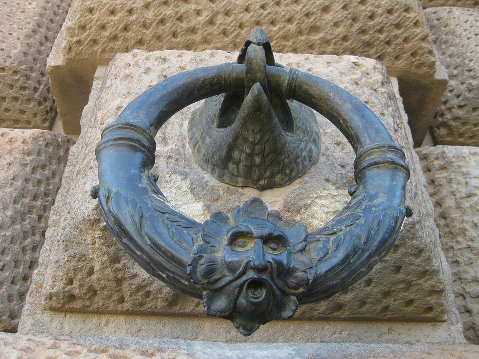 Aldaba, Ring, Aguila, Metal, Alhambra, Granada
