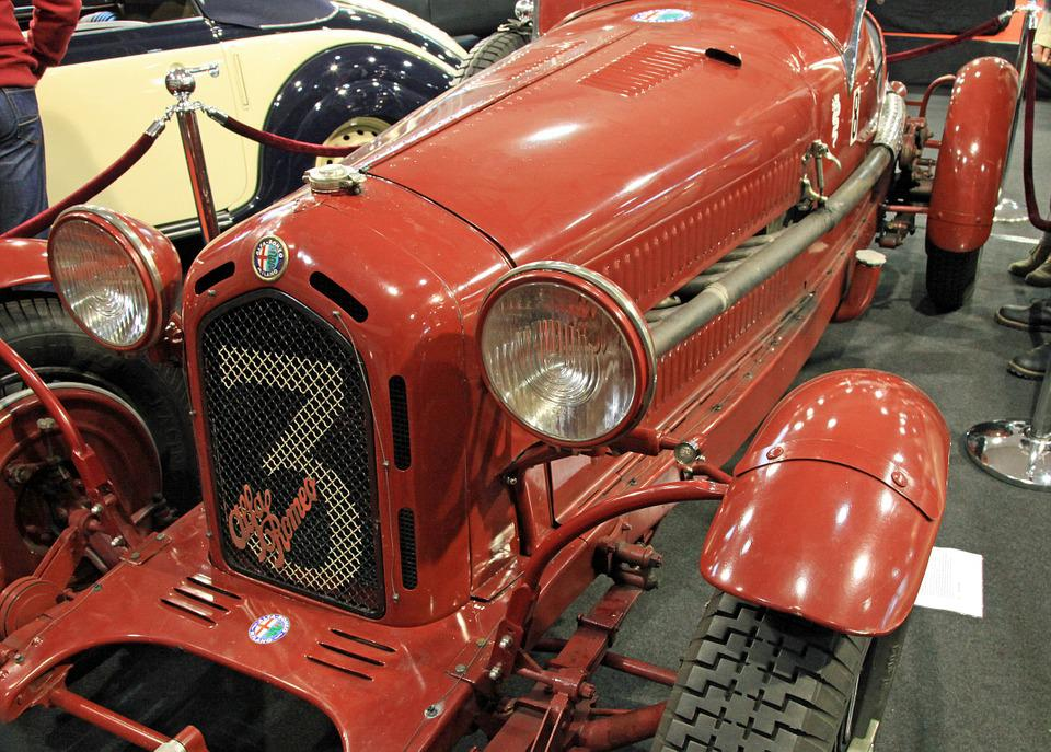 Oldtimer, Alfa Romeo, Red, Racing Car, Sports Car, Auto