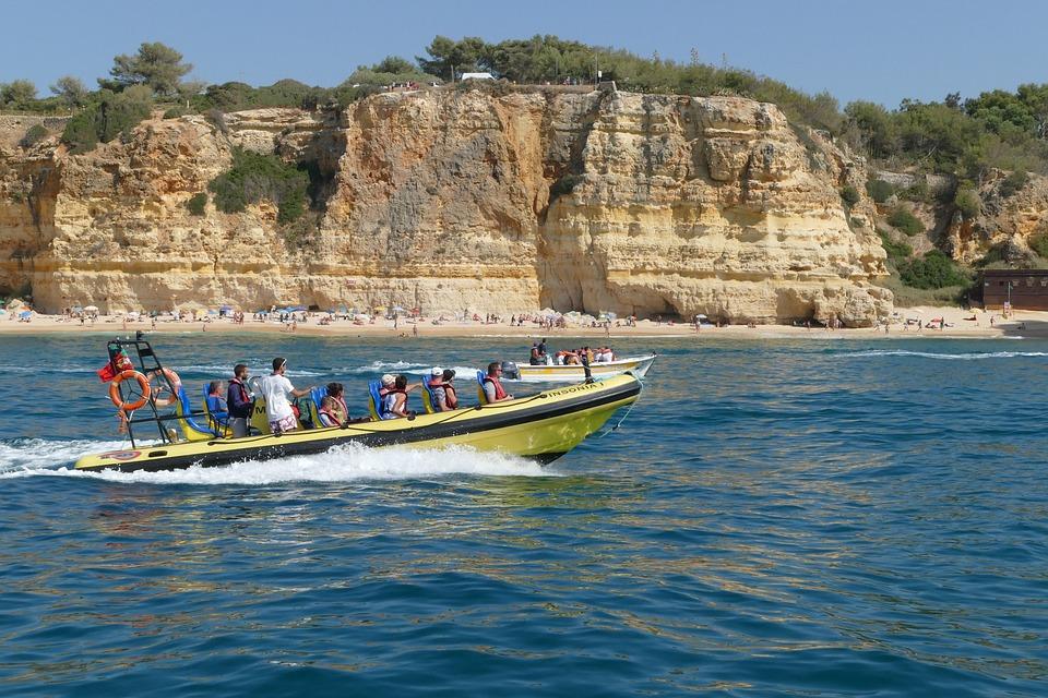 Portugal, Algarve, Sea, Rock, Coast, Beach, Boot