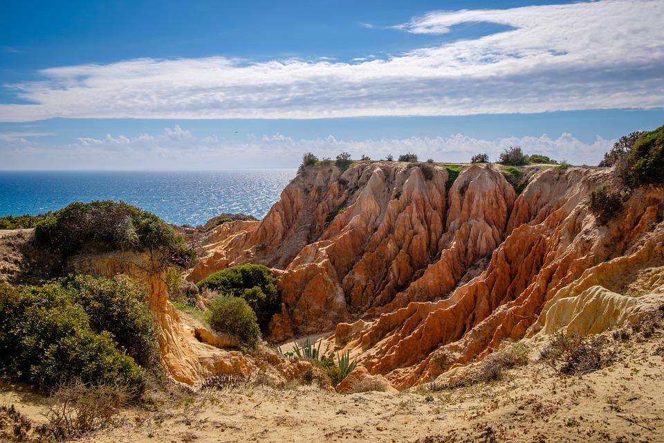 Portugal, Algarve, Beach, Summer, Landscape, Water