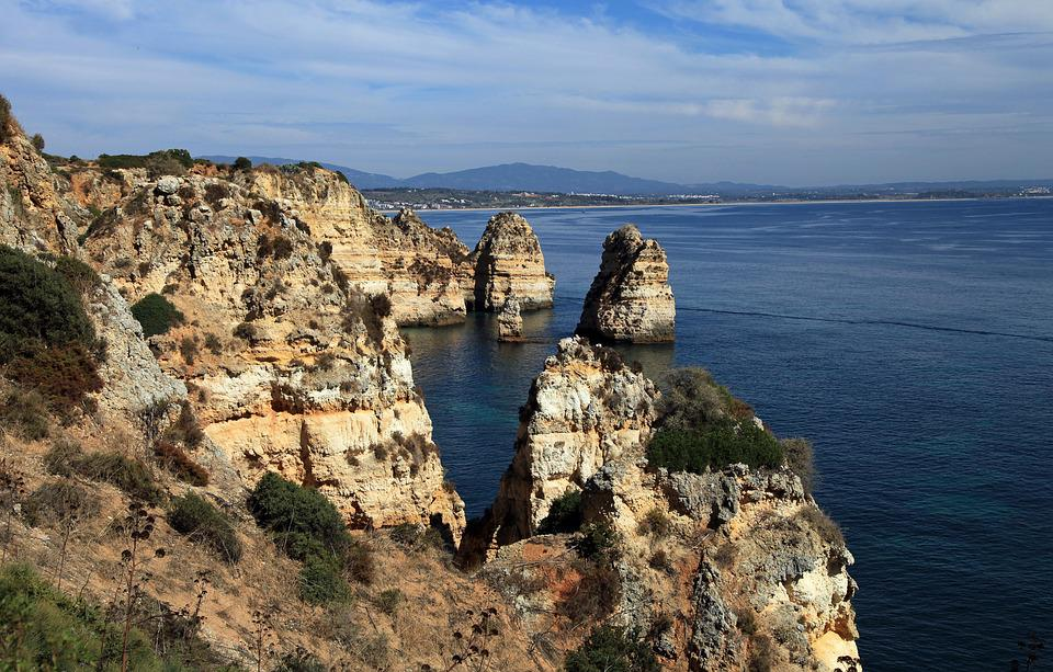 Algarve, Portugal, Cliff, Rock, Coast, Atlantic, Nature