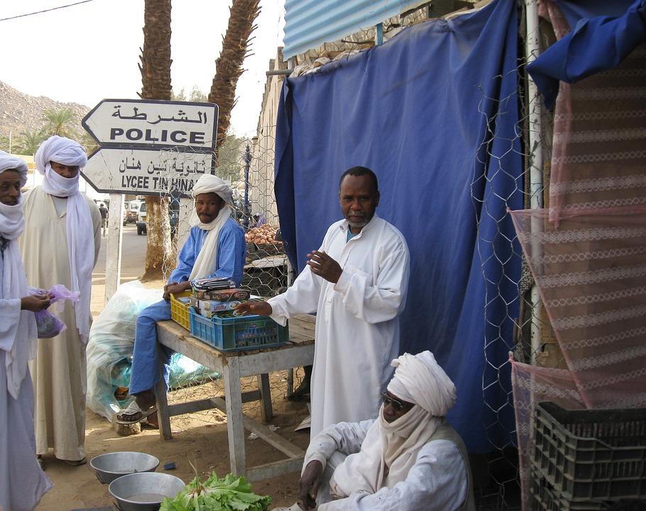 Algeria, Djanet, Market, Tuareg, Desert