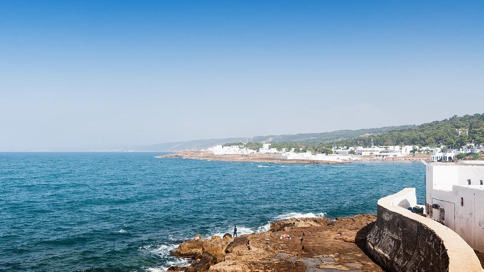 Sea, Mediterranean, Tipaza, Algeria, Africa