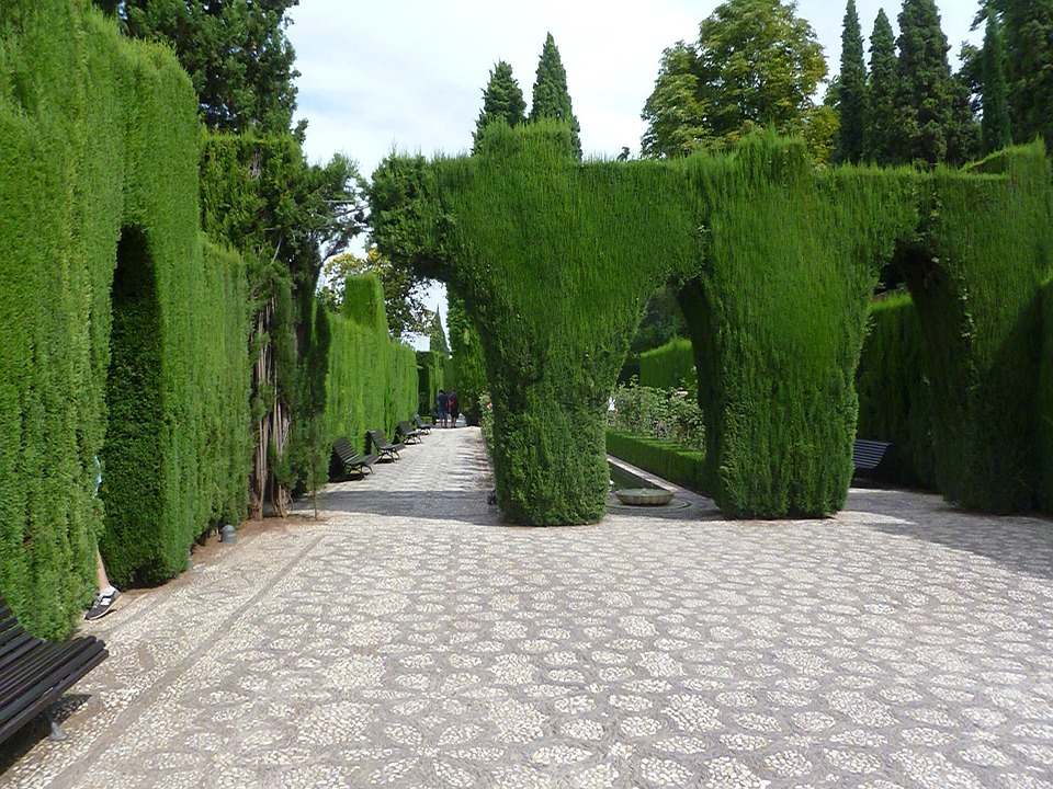 Garden, Alhambra, Andalusia, Spain