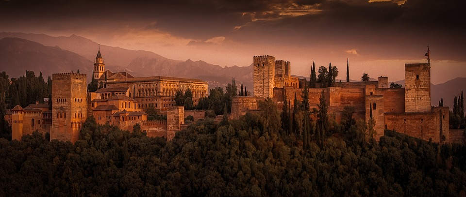 Alhambra, The Strength Of The, Fortification, Spain