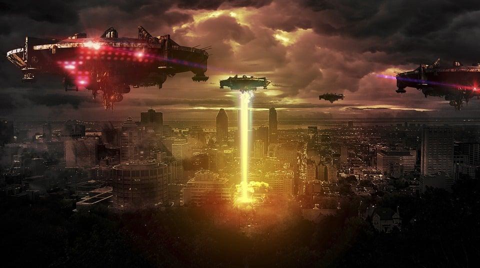 Photo Manipulation, Alien, Foreign, Inhuman, Night