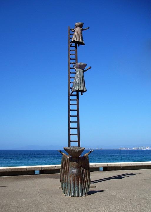 Sculpture, Mexico, Puerto Vallarta, Beach, Alien