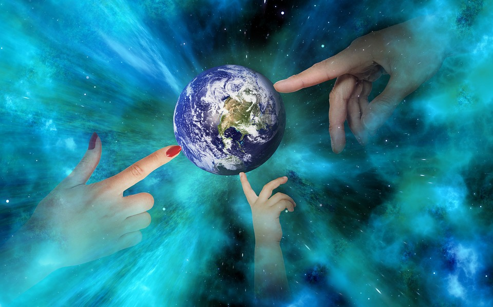 World, Earth, Space, Hands, Globe, Universe, All