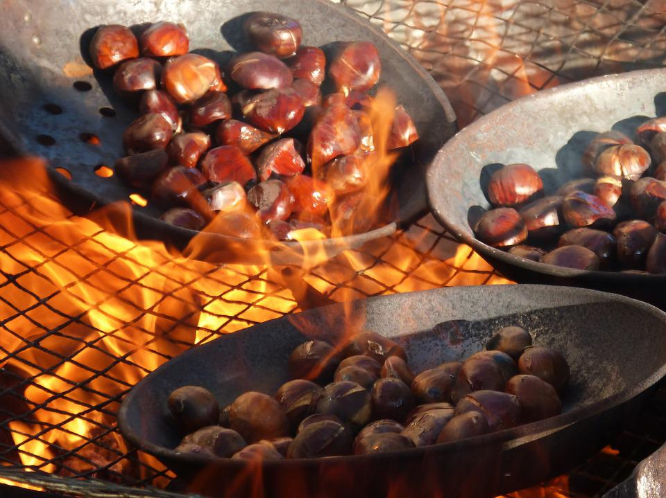 Chestnuts, Fire, Roasted Chestnuts, All Saints