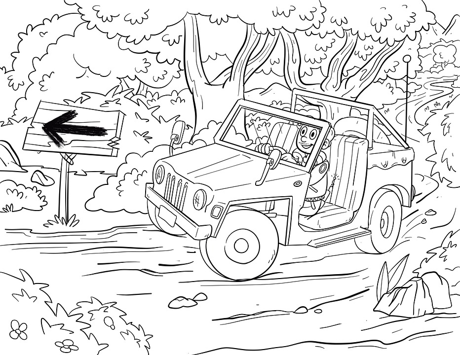 Drawing, Auto, All Terrain Vehicle, All-terrain Car