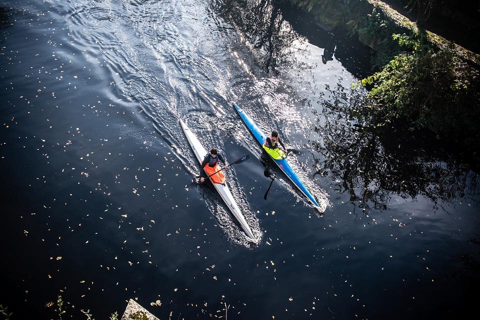 River, Rowers, Allariz, Water Sports, Recreation