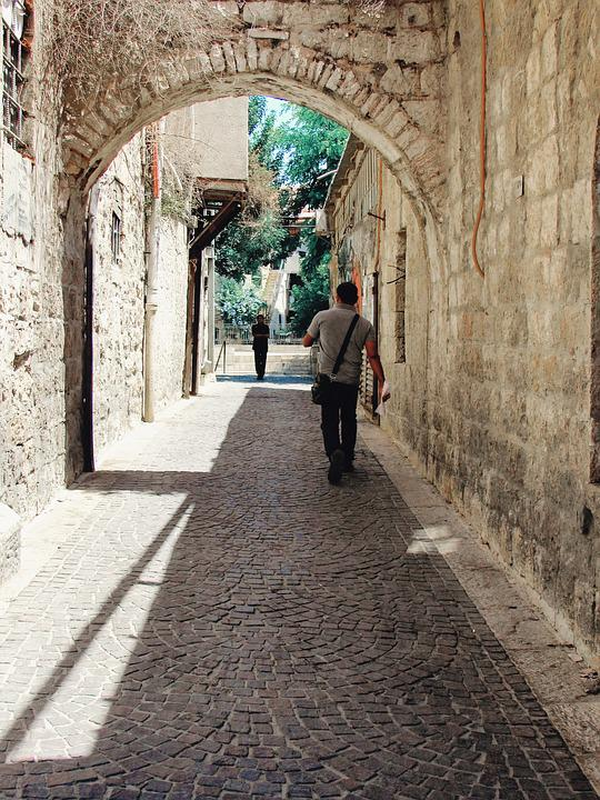 Alley, Jerusalem, Israel, Religion, Tourism, Bible