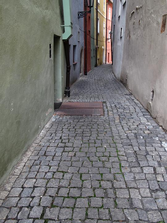 Alley, Narrow Lane, Old Town, Downtown, Side Street