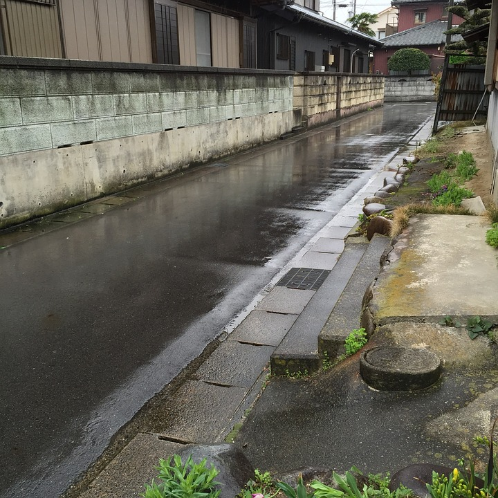 Rainy, Rain, Alley, The Gutter, Narrow Road