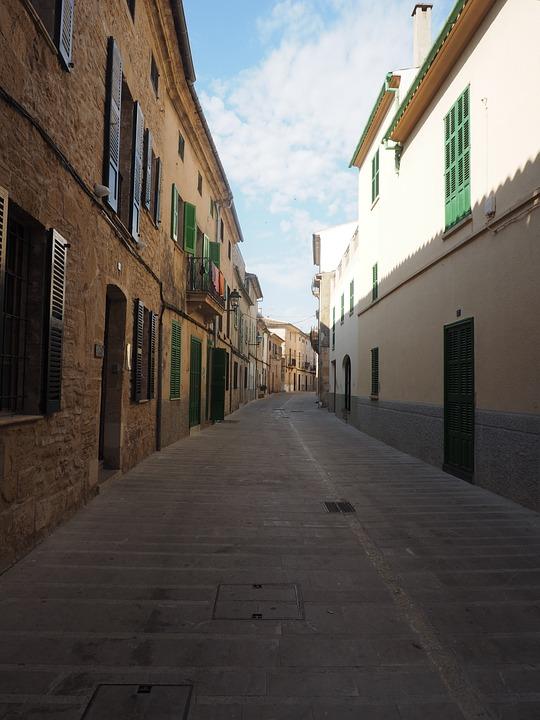 Alcudia, Road, Alley, Spain, Mallorca, City