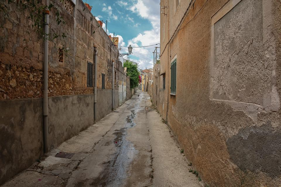 Alley, Village, Vacations, Mallorca, Spain