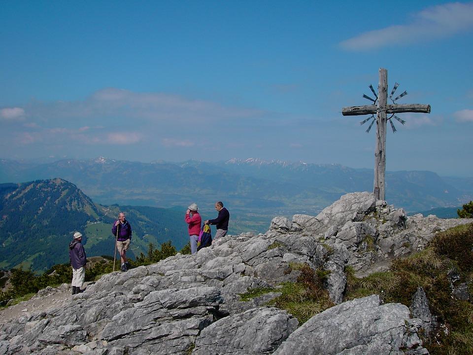 Iseler, Summit Cross, Alpine, Allgäu, Oberjoch, 1876 M