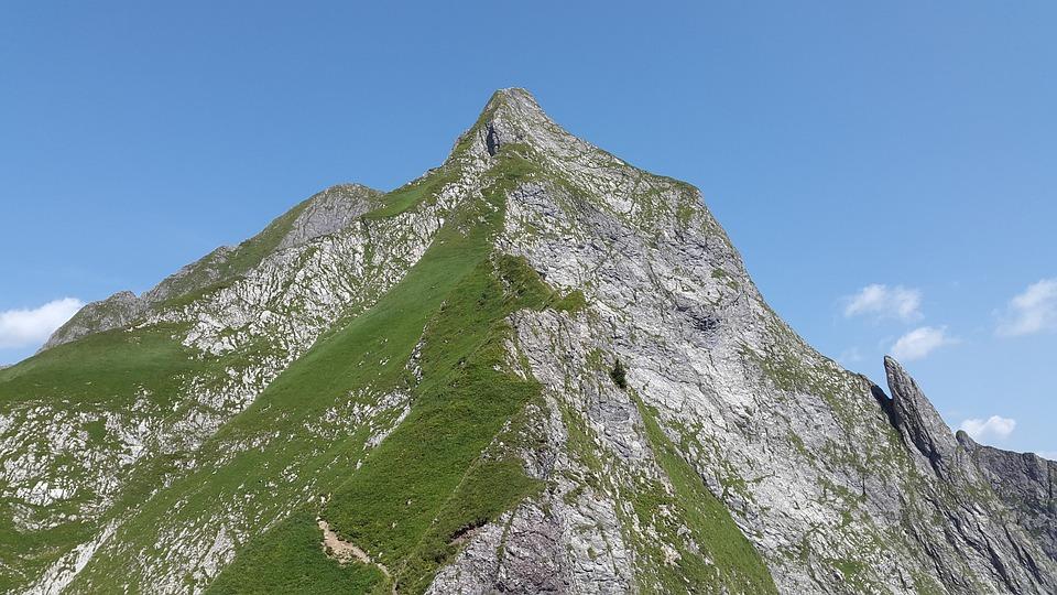 Höfats, Allgäu, Grasberg, Steep Grass, Allgäu Alps