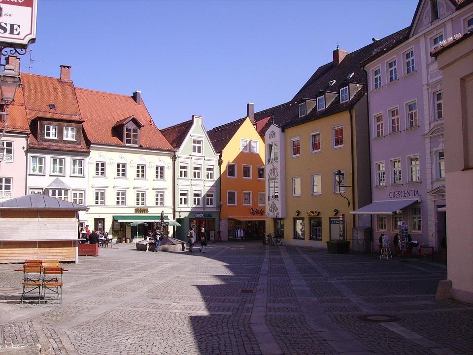 Kaufbeuren, Allgäu, Bavaria, Downtown, Architecture