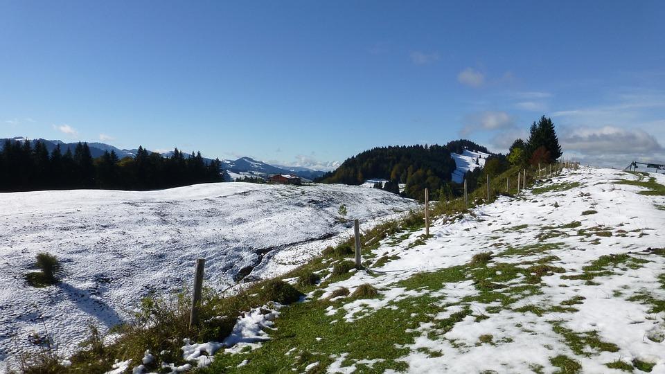 Allgäu, Winter Blast, Snow, Mountains, Panorama, Alpe