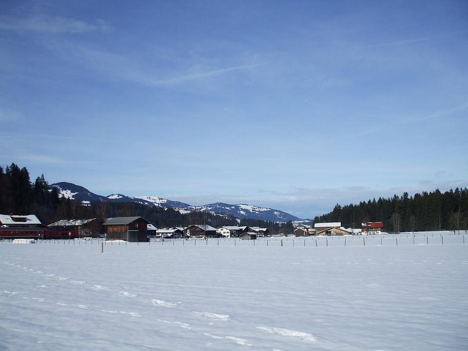 Allgäu, Snow, Winter