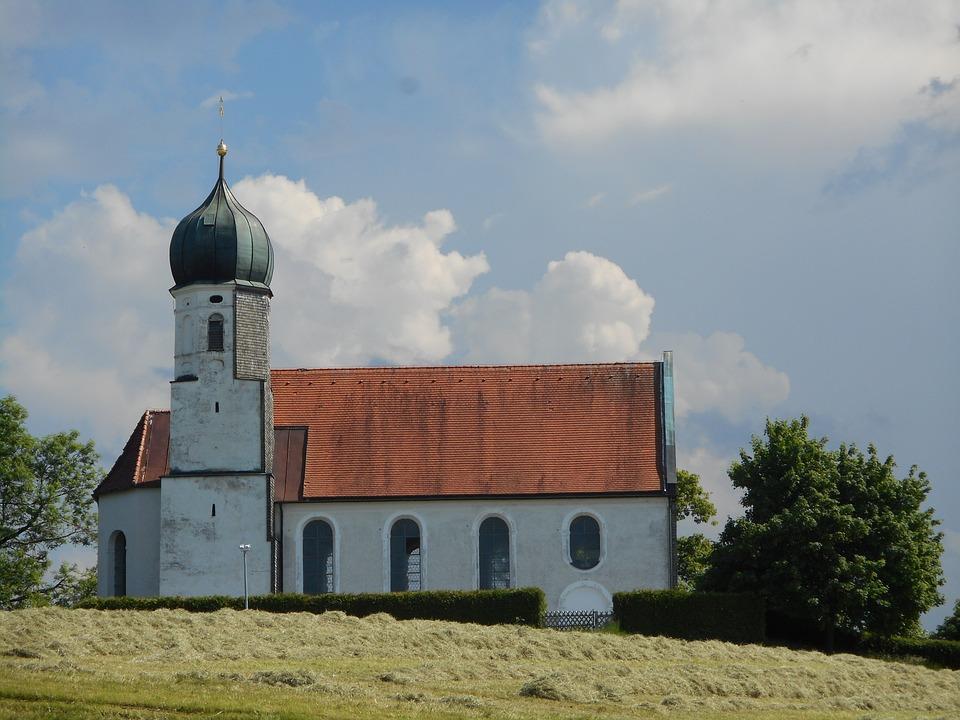 Allgäu, Church, Summer, Hay, Blue