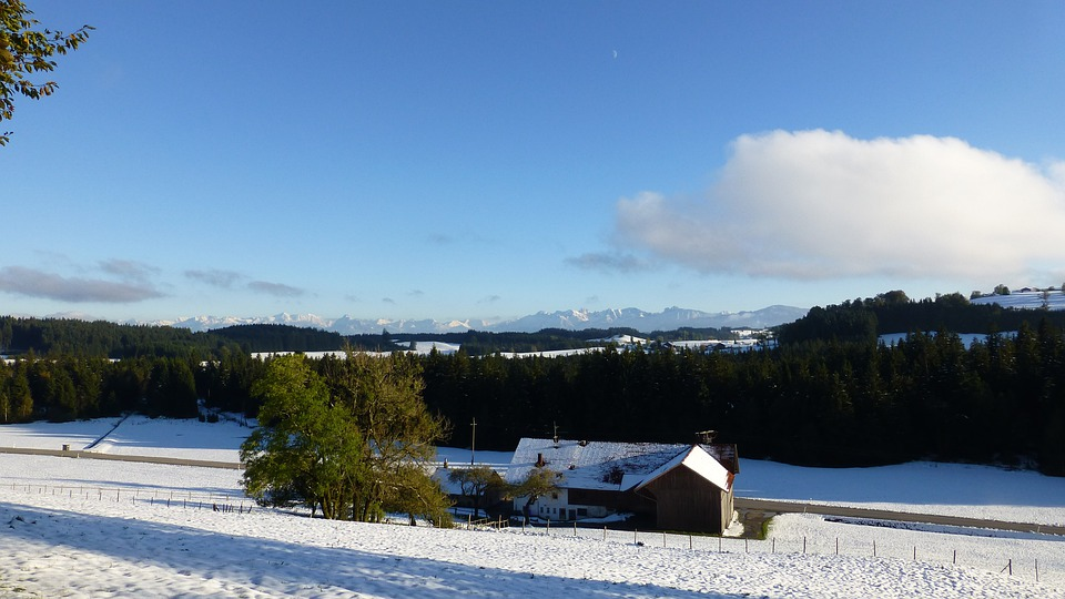 Allgäu, Winter Blast, Snow, Mountains, Panorama