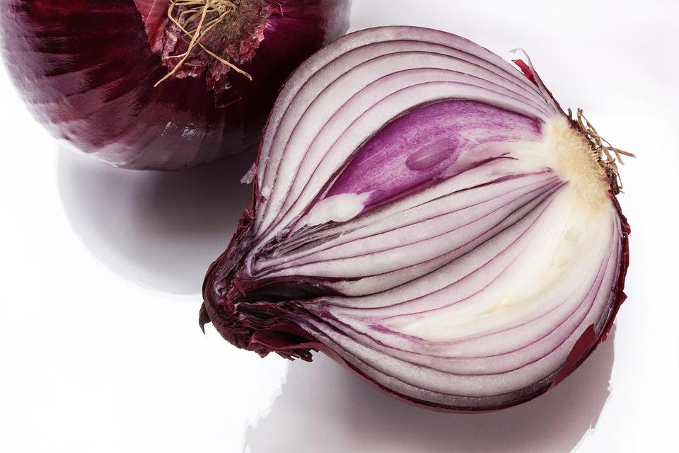 Onion, Allium Cepa, Red Onion, Sliced