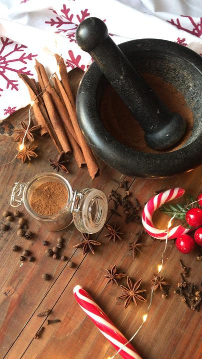 Spice, Allspice, Anise, Cinnamon, Cane Walking Stick