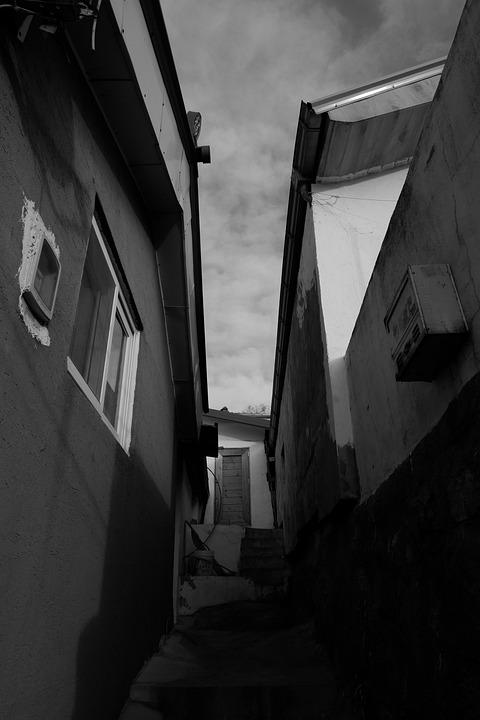 Ally, Alley, Narrow, House, Home, Republic Of Korea