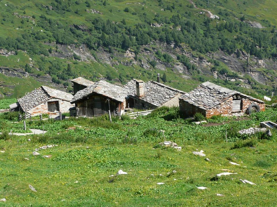 Mountain Huts, Mountains, Hiking, Hut, Alm, Switzerland