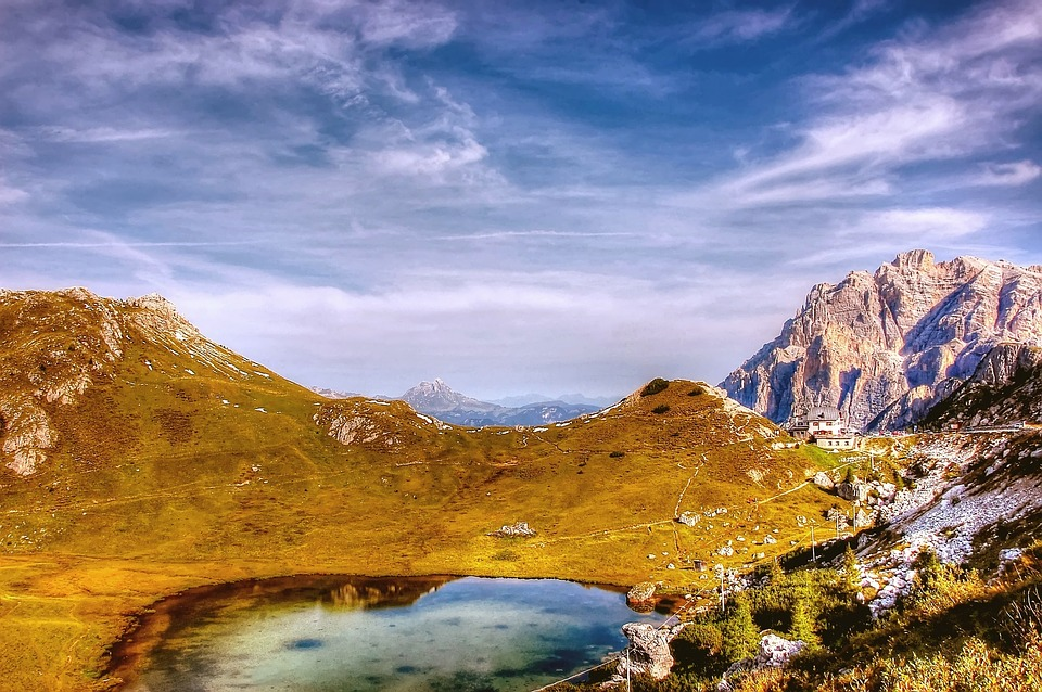 Passo Valparola, Conturines, Dolomites, Alm, Nature