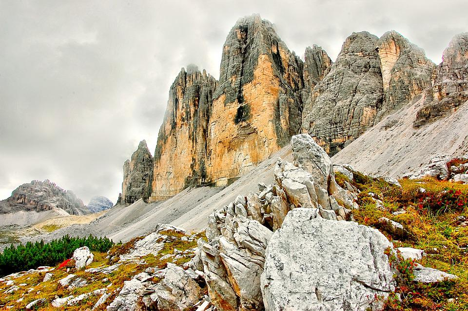 Tre Cime, Sesto, Alm, Nature, Rubble Field