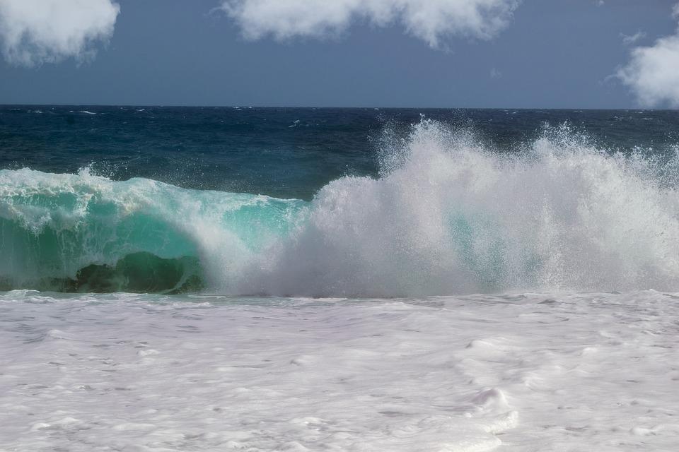 Wave, Sea, Blue, Foam, Beach, Carboneras, Almeria