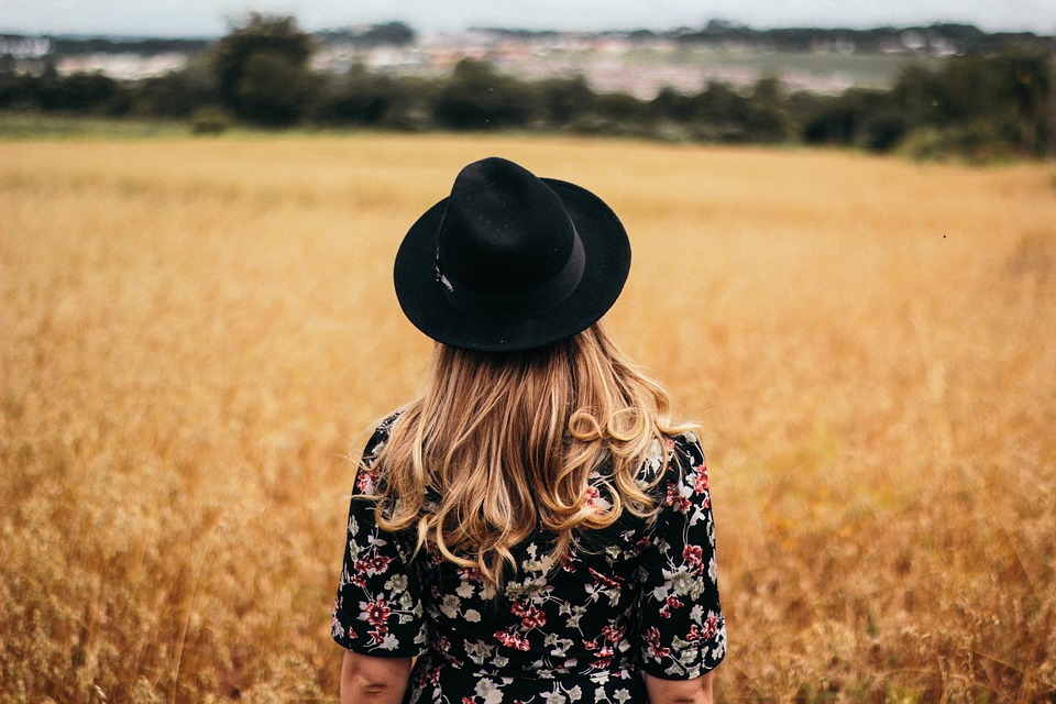 People, Girl, Woman, Alone, Hair, Cap, Hat, Fashion