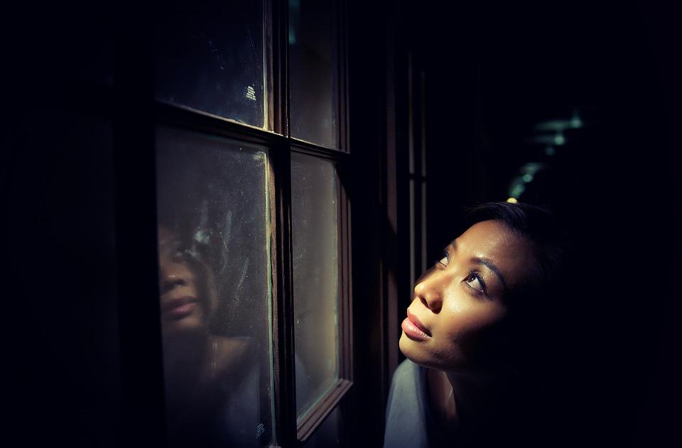 Alone, Dark, Female, Girl, Light, Person, Solo, Window