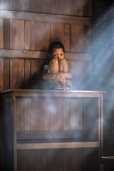Boy, Lonely, Asian, Sad, Alone, Child, Cry