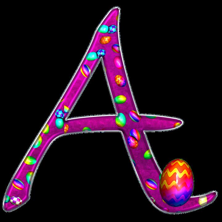Alphabet, Letter, Initial, Easter, Background